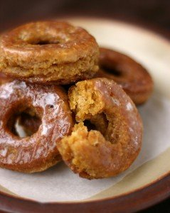 Buttermilk Glazed Pumpkin Donuts