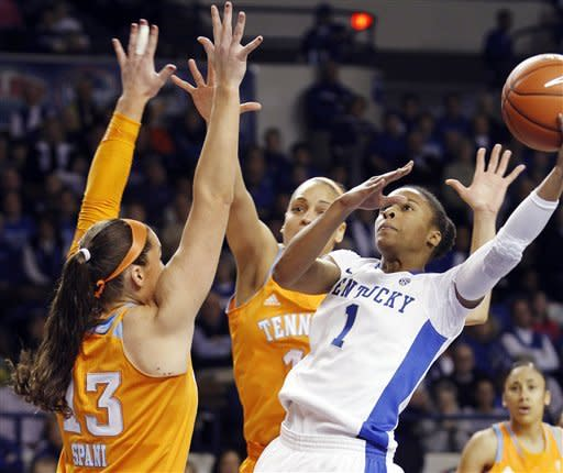 No. 10 Kentucky women beat No. 8 Tennessee 78-65