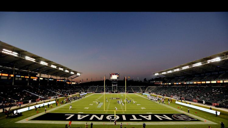 IMAGE DISTRIBUTED BY AP IMAGES FOR NFLPA- A overall general view of the Home Depot Center during the NFLPA Collegiate Bowl on Saturday, Jan. 19, 2013 in Carson, Calif. (Ric Tapia/AP Images for NFLPA)