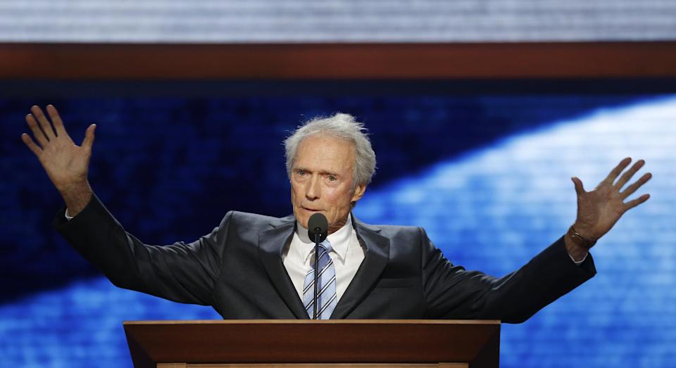 Actor Clint Eastwood addresses the Republican National Convention in Tampa, Fla., on Thursday, Aug. 30, 2012. (AP Photo/Charles Dharapak)