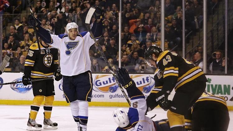 Blues beat Bruins 3-2 on Roy's shootout goal