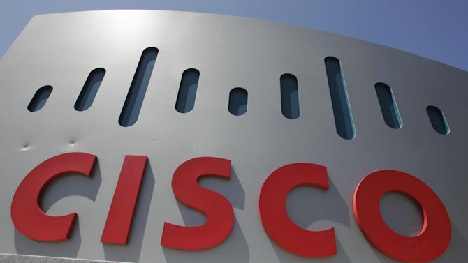 Exterior view of Cisco headquarters in Santa Clara, Calif., Wednesday, May 9, 2012. Cisco Systems Inc.'s quarterly earnings surged 20 percent in the latest sign that a recently completed overhaul is paying off for the world's largest maker of computer-networking equipment. (AP Photo/Paul Sakuma)
