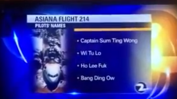 The NTSB Fired the Intern who Confirmed Fake Asiana Pilot Names