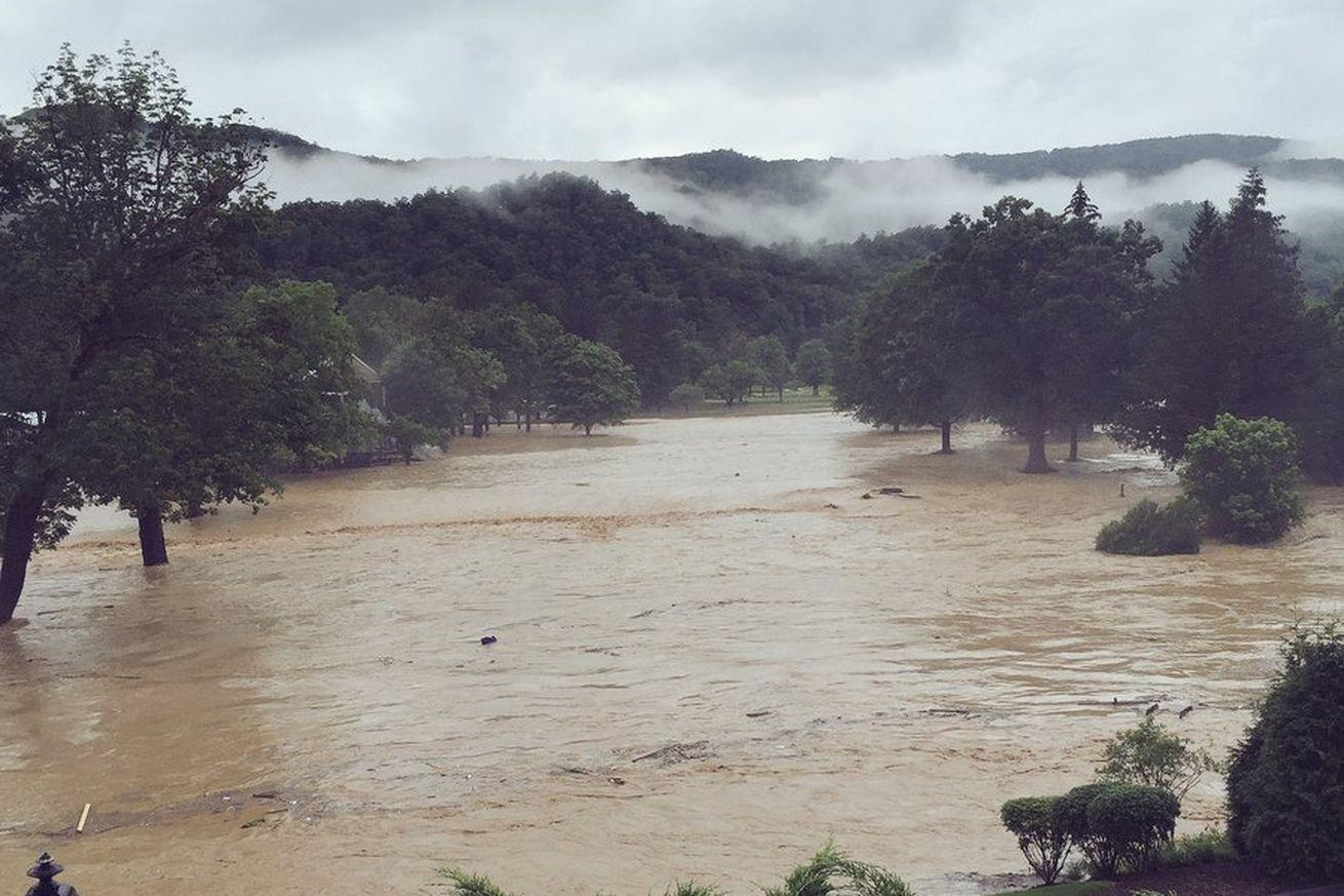 Flooding at the Greenbrier Classic shows the terrifying conditions in West Virginia