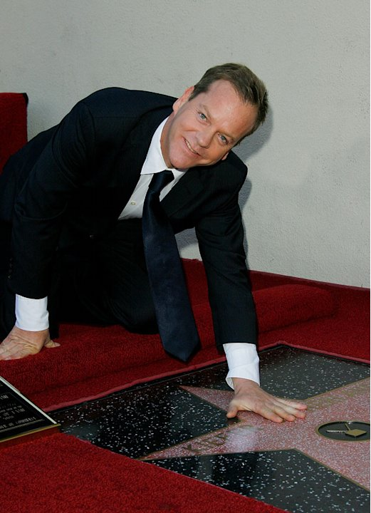 Kiefer Sutherland attends the ceremony honoring him with a star on the Hollywood Walk of Fame on December 9, 2008 in Hollywood, California.
