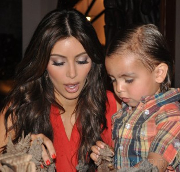 Mason has one super glam auntie. Copyright: [Kim Kardashian] And imagine having Kim Kardashian for a mum? You would be easily the glammest kid on the playground. Actually, you would probably be the g