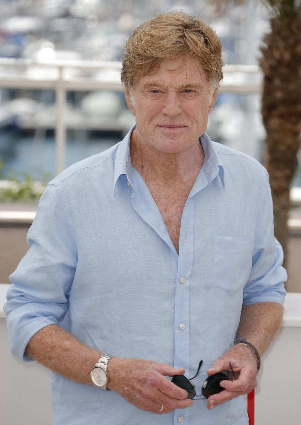Actor Robert Redford poses for photographers during a photo call for the film All Is Lost at the 66th international film festival, in Cannes, southern France, Wednesday, May 22, 2013. (Photo by Todd Williamson/Invision/AP)