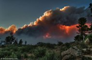 &quot;There&#39;s quite a fire burning west of Fort Collins, Colorado. It created some pretty spectacular views as the setting sun shone through the clouds and smoke,&quot; Brian Emory who took this shot of the High Park Fire on June 10, 2012, wrote on &lt;a hr