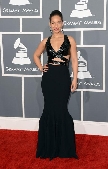 Singer Alicia Keys arrives at the 55th Annual GRAMMY Awards at Staples Center on February 10, 2013 in Los Angeles, California. (Photo by Jason Merritt/Getty Images)