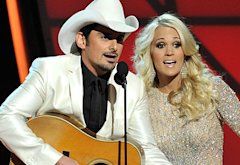Brad Paisley and Carrie Underwood | Photo Credits: Frederick Breedon/FilmMagic