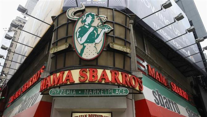 A Sbarro restaurant is seen in the Times Square section of New York