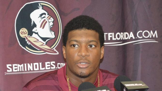 Florida State University quarterback Jameis Winston speaks at news conference in Tallahassee