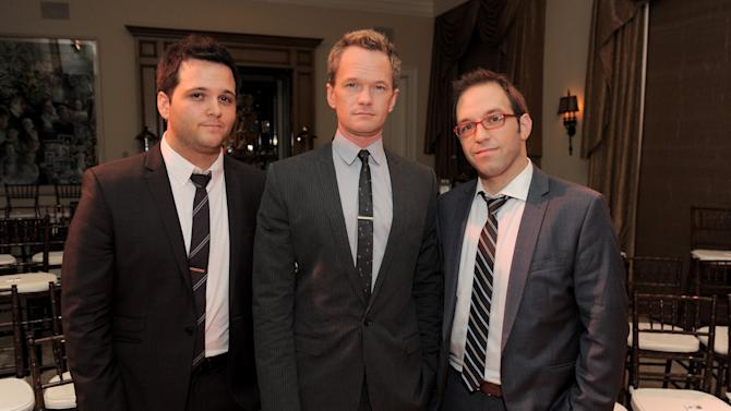 From left, Derek DelGaudio, Neil Patrick Harris and Helder Guimaraes  attend the LOUIS XIII and Audi Chairman's Circle Dinner for the Geffen Playhouse on Saturday, Nov. 17, 2012 at a private residence in Los Angeles. (Photo by Jordan Strauss/Invision for LOUIS XIII/AP Images)