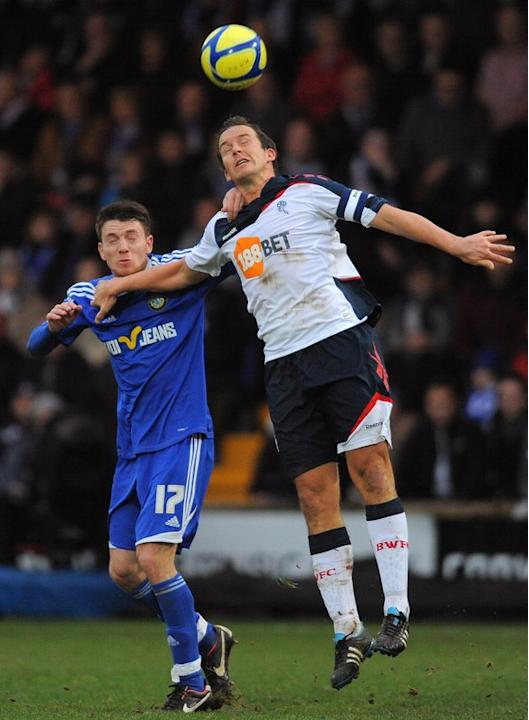 Macclesfield Town's English Midfielder Sam Wedgbury (L) Vies AFP/Getty Images