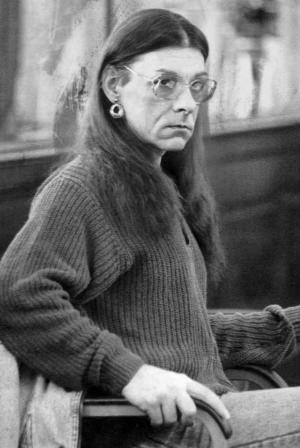 FILE - In this Jan. 15, 1993 file photo, Robert J. Kosilek, now known as Michelle Kosilek, sits in Bristol County Superior Court in New Bedford, Mass., where Kosilek was on trial for the May 1990 murder of his wife. Kosilek was convicted and lives as a woman in a Massachusetts prison serving a life sentence for murder. State prison officials will argue before a federal appeals court Thursday, May 8, 2014 in Boston, that the state should not have to pay for sex change surgery for Kosilek. A federal judge ruled in 2012 the state Department of Correction must provide surgery to treat Kosilek's gender-identity disorder. (AP Photo/Lisa Bul, file)