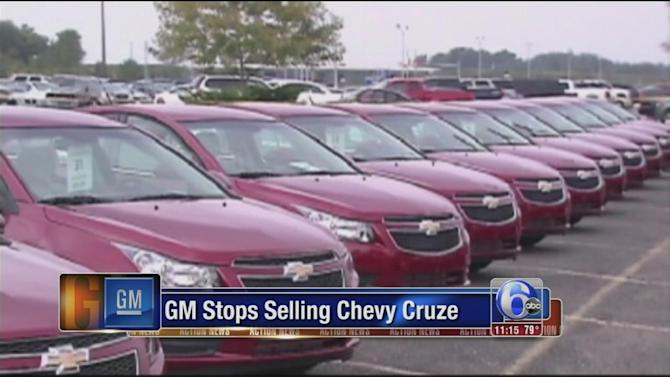 GM halts sales of 2013-2014 Chevy Cruze models