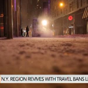 New York Travel Bans Lifted as City Dodges Blizzard