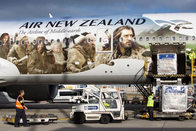 "Boeing 777-300 der ""Air New Zealand"": Alles auf Hobbit (Bild: Reuters)"