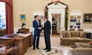 Barack Obama Hosts Mitt Romney At White House