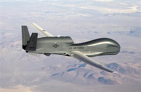 An undated U.S. Air Force handout photo of a RQ-4 Global Hawk unmanned aircraft