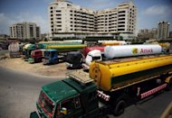 Tankers used to transport fuel to NATO forces in Afghanistan, are parked near oil terminals in the Pakistani port city of Karachi. Pakistan has ordered officials to finalise an agreement as quickly as possible on lifting a six-month blockade on overland NATO supplies into war-torn Afghanistan