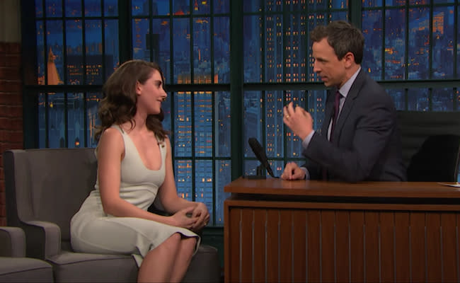 Alison Brie Revealed On 'Late Night' That She Accidentally Peed On Her Vintage 'Mad Men' Undergarments