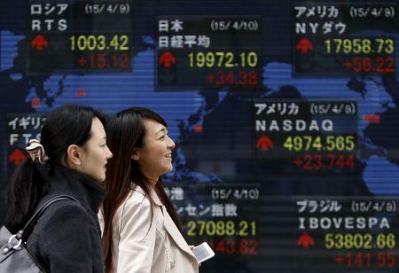 Asian shares edge off seven-year highs as Fed awaited