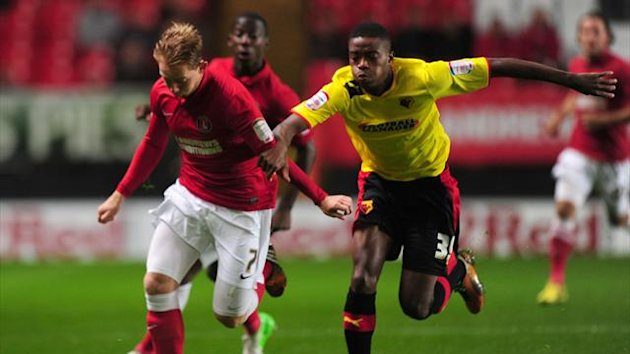 Charlton Athletic's Danny Green and Watford's Nathaniel Chalobah battle for the ball (PA Photos)