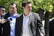 Radical left party leader Alexis Tsipras leaves the presidential palace in Athens after the meeting of the three top parties with the Greek president. Greek political party leaders emerged from emergency cabinet talks with no breakthrough in sight, raising the prospect of new elections that could scupper reforms and force the country out of the eurozone