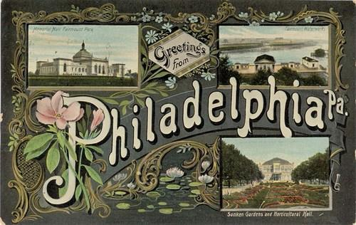 Vintage Postcards: Greetings From Philadelphia! Flashback Friday Edition