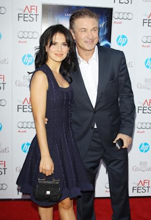 Hilaria Lynn Thomas and Alec Baldwin arrive at the 2012 AFI FEST - 'Rise Of The Guardians' premiere held at Grauman's Chinese Theatre in Hollywood, Calif. on November 4, 2012 -- Getty Premium