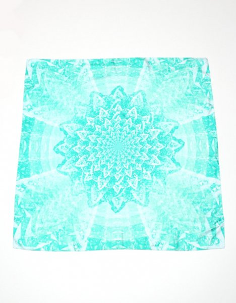 Green diamond silk twill scarf, $120, emeraldgrippa.com