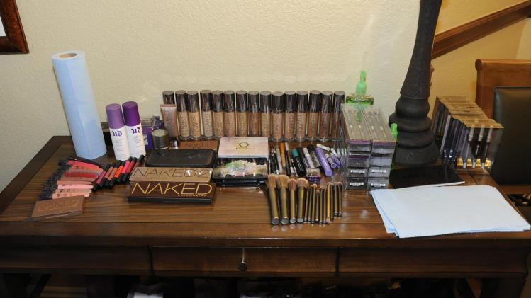 A general view of the Urban Decay make-up station at the Fender Music lodge during the Sundance Film Festival on Sunday, Jan. 20, 2013, in Park City, Utah. (Photo by Jack Dempsey/Invision for Fender/AP Images)