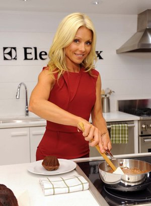 Kelly Ripa in the kitchen. Electrolux