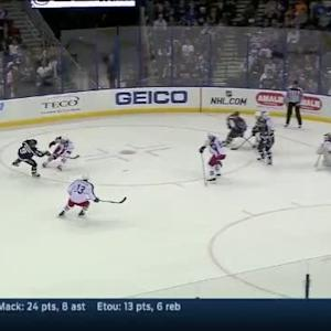 Curtis McElhinney Save on Tyler Johnson (17:26/1st)