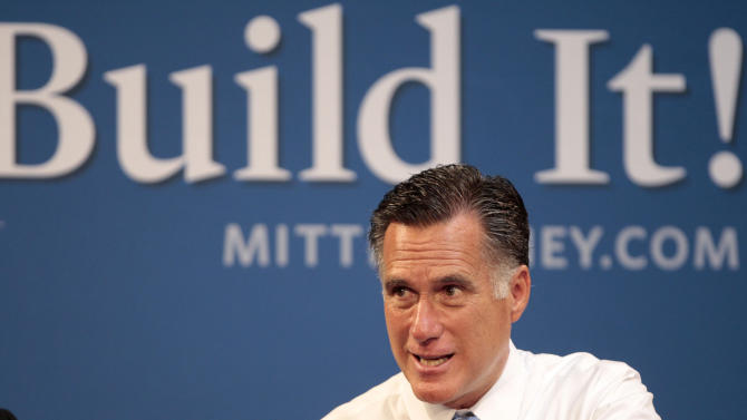 Republican presidential candidate, former Massachusetts Gov. Mitt Romney hosts a small-business roundtable during a campaign stop at Endural LLC, Monday, July 23, 2012, in Costa Mesa, Calif. (AP Photo/Jason Redmond)