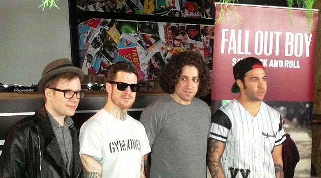 Fall Out Boy say they've grown up during the four-year hiatus. (Yahoo! photo)