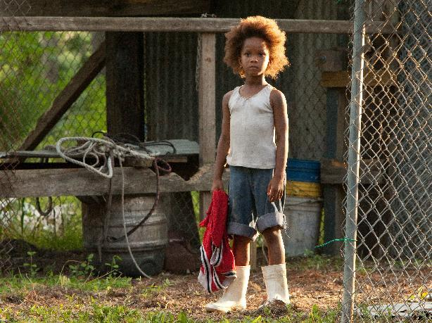 "This film image released by Fox Searchlight Pictures shows Quvenzhane Wallis portraying Hushpuppy in a scene from, ""Beasts of the Southern Wild."" (AP Photo/Fox Searchlight Pictures, Mary Cybulski)"