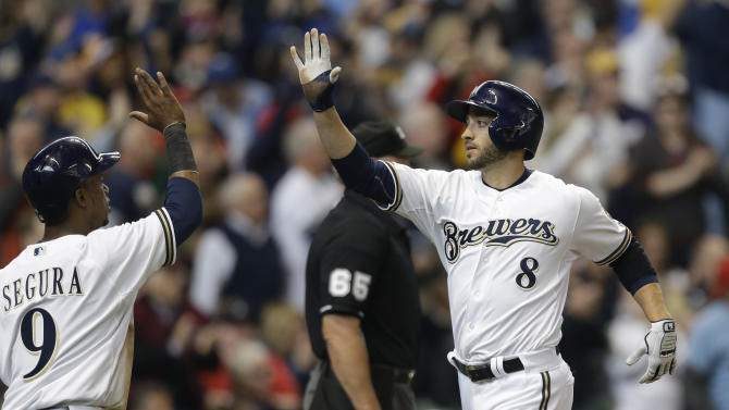 Ryan Braun high five thumb