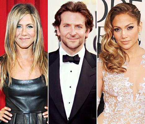 Bradley Cooper Reunites With Exes Jennifer Aniston, Jennifer Lopez Over Golden Globes Weekend