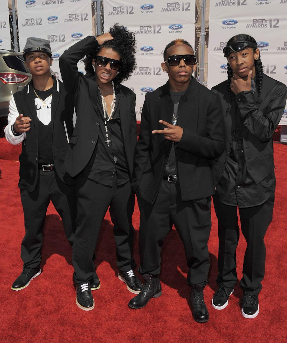 Mindless Behavior arrive at the BET Awards on Sunday, July 1, 2012, in Los Angeles. (Photo by Jordan Strauss/Invision/AP)