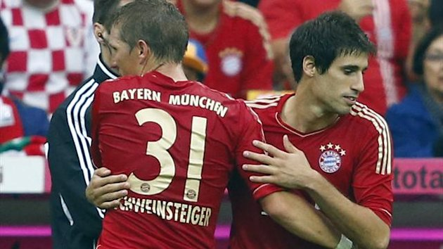 Javi Martinez comes off the bench to make his Bayern Munich debut (Reuters)