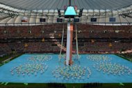 General view of the opening ceremony prior the kick off of the Euro 2012 football championships match Poland vs. Greece at the National Stadium in Warsaw