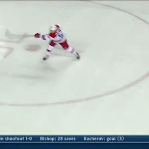 Jeff Skinner goes five-hole on Karri Ramo