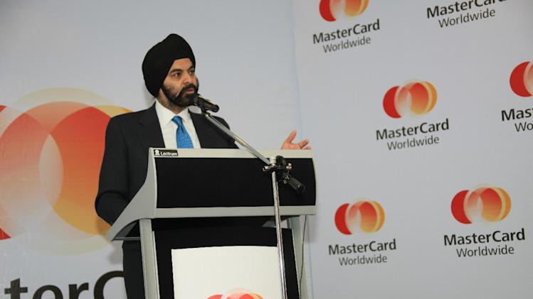 IMAGE DISTRIBUTED FOR MASTERCARD WORLDWIDE - Ajay Banga, MasterCard Worldwide President and CEO, addresses Central Bank of Nigeria (CBN) officials and other business leaders in Abuja, Nigeria, on Monday Jan. 14, 2013.  In his address, Banga highlighted the rapid evolution of the Nigerian payments landscape as a global success story, acknowledging CBNÕs Cashless Policy as the driving force behind the reform in the countryÕs electronic payments sector over the past two years. (Sunday Aghaeze /AP Images for Mastercard Worldwide)
