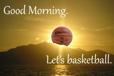 Good morning. Happy NBA Playoffs Eve.