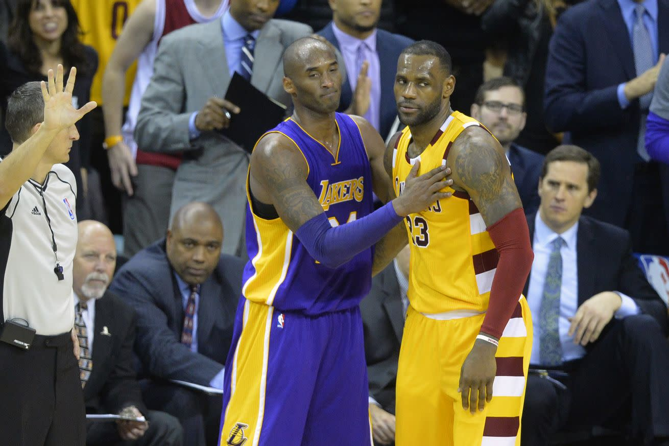 Kobe Bryant doesn't consider LeBron James to be a rival