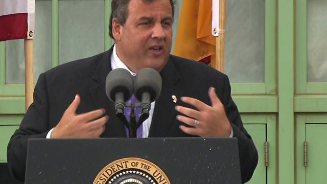 """Still a lot more work to do"" in Sandy recovery, Christie says"
