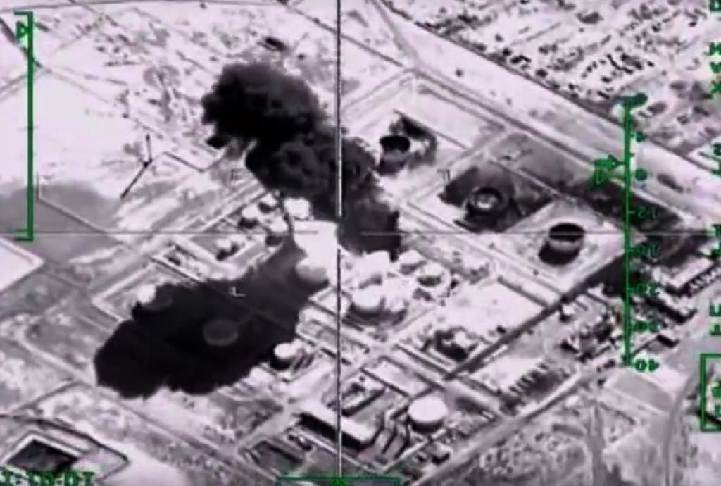 Russia says its warplanes have targeted an Islamic State oil-processing facility in Syria