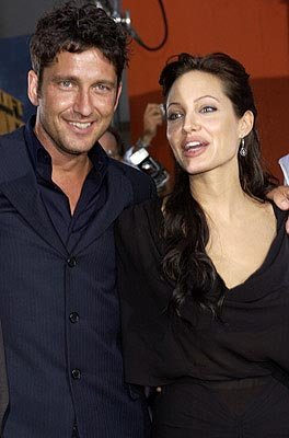 Gerard Butler and Angelina Jolie at the LA premiere of Paramount's Lara Croft Tomb Raider: The Cradle of Life